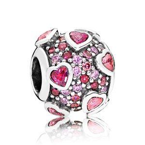Pandora Raised Hearts Pavé Charm 796555CZSMX